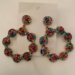 BNWT colorful statement earrings